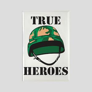 True Heros - the Marines Rectangle Magnet
