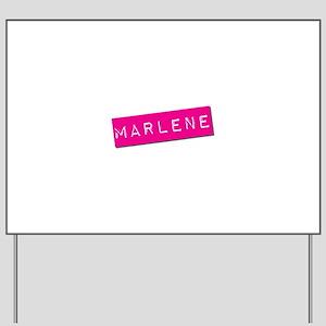 Marlene Punchtape Yard Sign