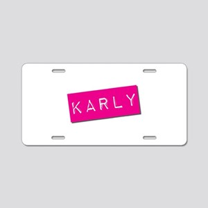 Karly Punchtape Aluminum License Plate