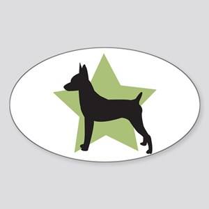 Toy Fox Terrier Oval Sticker