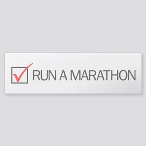 Run a Marathon Check Box Sticker (Bumper)