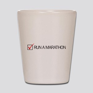Run a Marathon Check Box Shot Glass