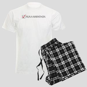 Run a Marathon Check Box Men's Light Pajamas