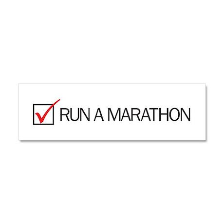 Run a Marathon Check Box Car Magnet 10 x 3