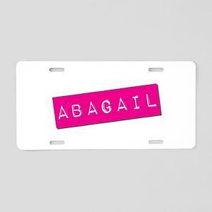 Abagail Punchtape Aluminum License Plate