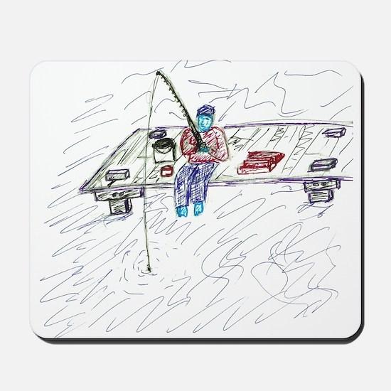 Dock Fishing Mousepad