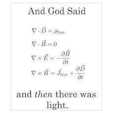 God Said Maxwell's Equations Poster
