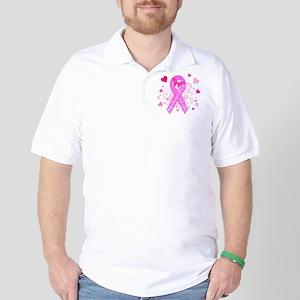 Pink Ribbon with Love Golf Shirt