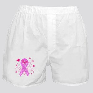Pink Ribbon with Love Boxer Shorts