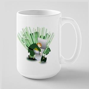 Passed Out Leprechaun Large Mug