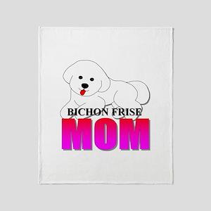 Bichon Frise Mom Throw Blanket