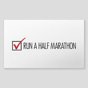 Run a Half Marathon Check Box Sticker (Rectangle)