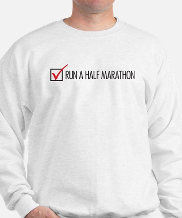 Run a Half Marathon Check Box Sweatshirt