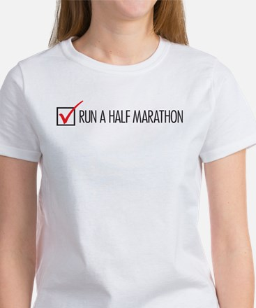 Run a Half Marathon Check Box Women's T-Shirt
