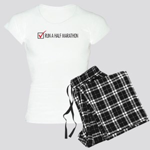 Run a Half Marathon Check Box Women's Light Pajama