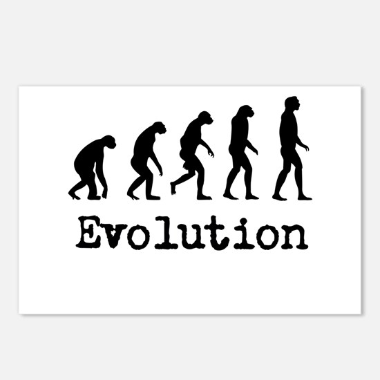 Darwin Evolution Design Postcards (Package of 8)