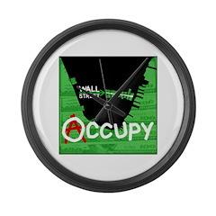 occupy wall street 04 Large Wall Clock