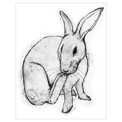 Bunny Rabbit Print (Framed) Poster