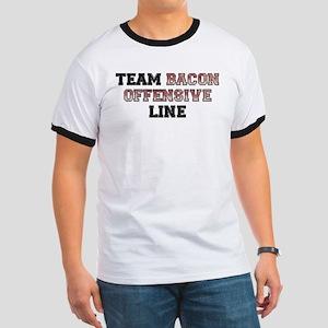Team Bacon Offensive Line Ringer T