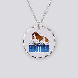 Beagle Brother Necklace Circle Charm