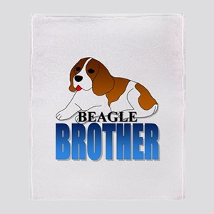 Beagle Brother Throw Blanket