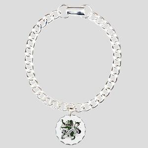 Davidson Tartan Lion Charm Bracelet, One Charm