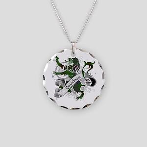 Davidson Tartan Lion Necklace Circle Charm