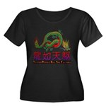 Dragon tattoo Women's Plus Size Scoop Neck Dark T-