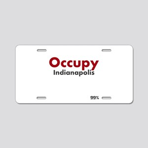 Occupy Indianapolis Aluminum License Plate