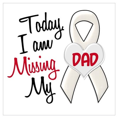missing my dad 1 pearl poster