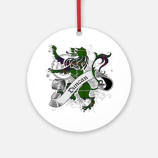 Duncan Tartan Lion Ornament (Round)