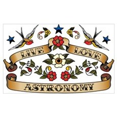 Live Love Astronomy Poster