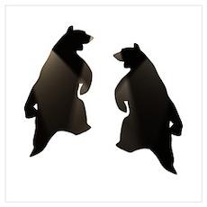 BLACK DANCING BEARS Poster