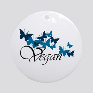 Vegan Wave Ornament (Round)