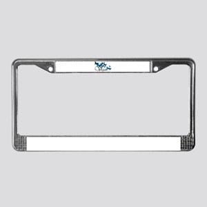 Vegan Wave License Plate Frame