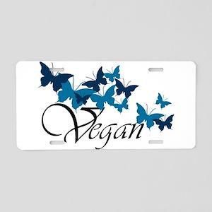 Vegan Wave Aluminum License Plate