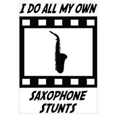 Saxophone Stunts Poster