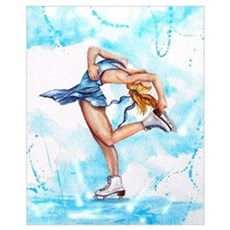 Blue Dream Ice Skater Poster