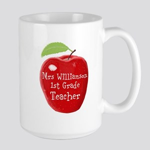 Personalised Teacher Apple Painting Mugs