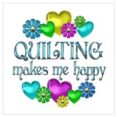 Quilting Happiness Poster