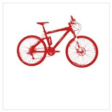 Red Mountain Bike Poster