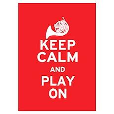Keep Calm Horn Poster