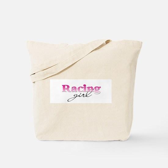 Racing girl Tote Bag