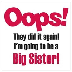 Oops Big Sister Framed Print