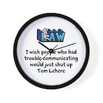 Litigation Lawyer's Wall Clock
