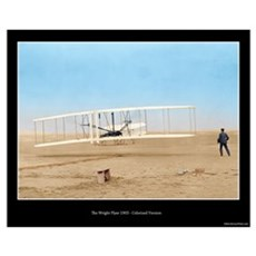 The Wright Flyer - Colorized ( 16x20) Poster