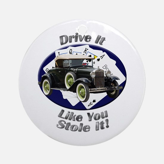 Ford Model A Ornament (Round)