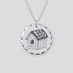 See Rock City Necklace Circle Charm