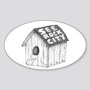 See Rock City Sticker (Oval)