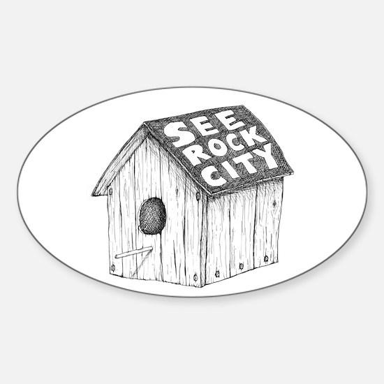 See Rock City Sticker (Oval)